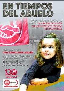 """""""La Reconstrucción del Movimiento Obrero en Cantabria"""""""